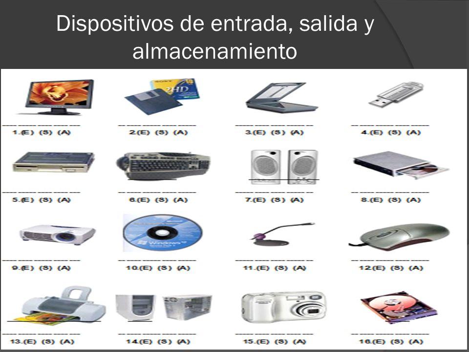 Resultado de imagen para cada uno de los dispositivos de almacenamiento ,entrada y salida del computador con